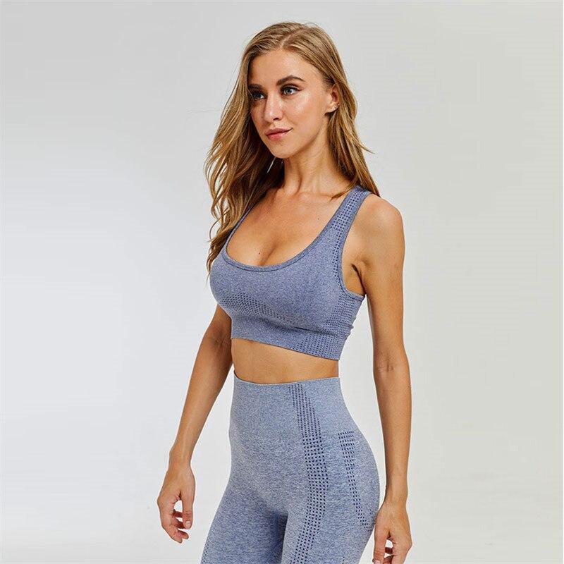 Seamless Yoga Set Women Fitness Clothing Sportswear Woman Gym Leggings Tights Padded Push-up Sports Bra Sports Suits
