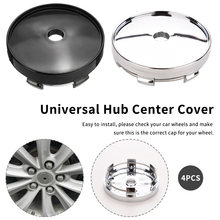 GM modified hub center cover wheel cover plated wheel hub cover for 4Pcs car tyre trim removal tool wheel hub cap(China)