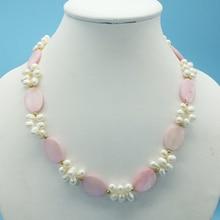 """Дыхательная цена натуральный белый и ракушка ожерелье 18"""""""