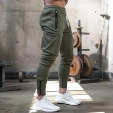 Joggers Sweatpants Men Casual Skinny Pants Multi-pocket Trou