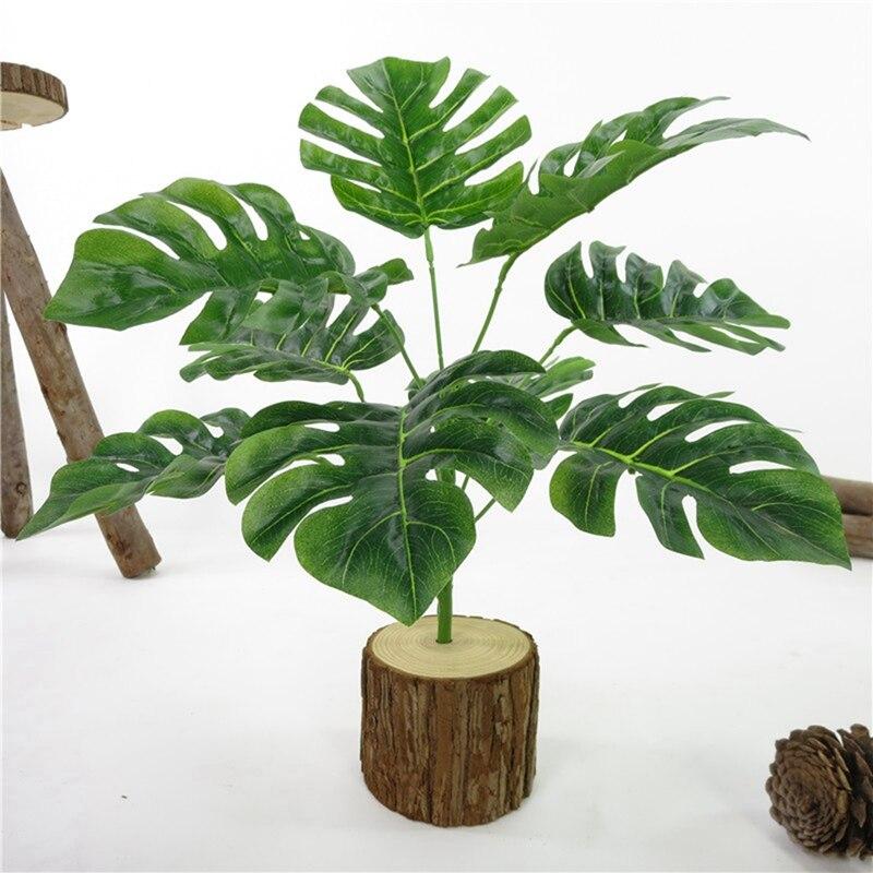 1PC fleurs artificielles 9 Branches tortue feuilles Garde plantes vert décor à la maison automne décoration fête de fête fournitures