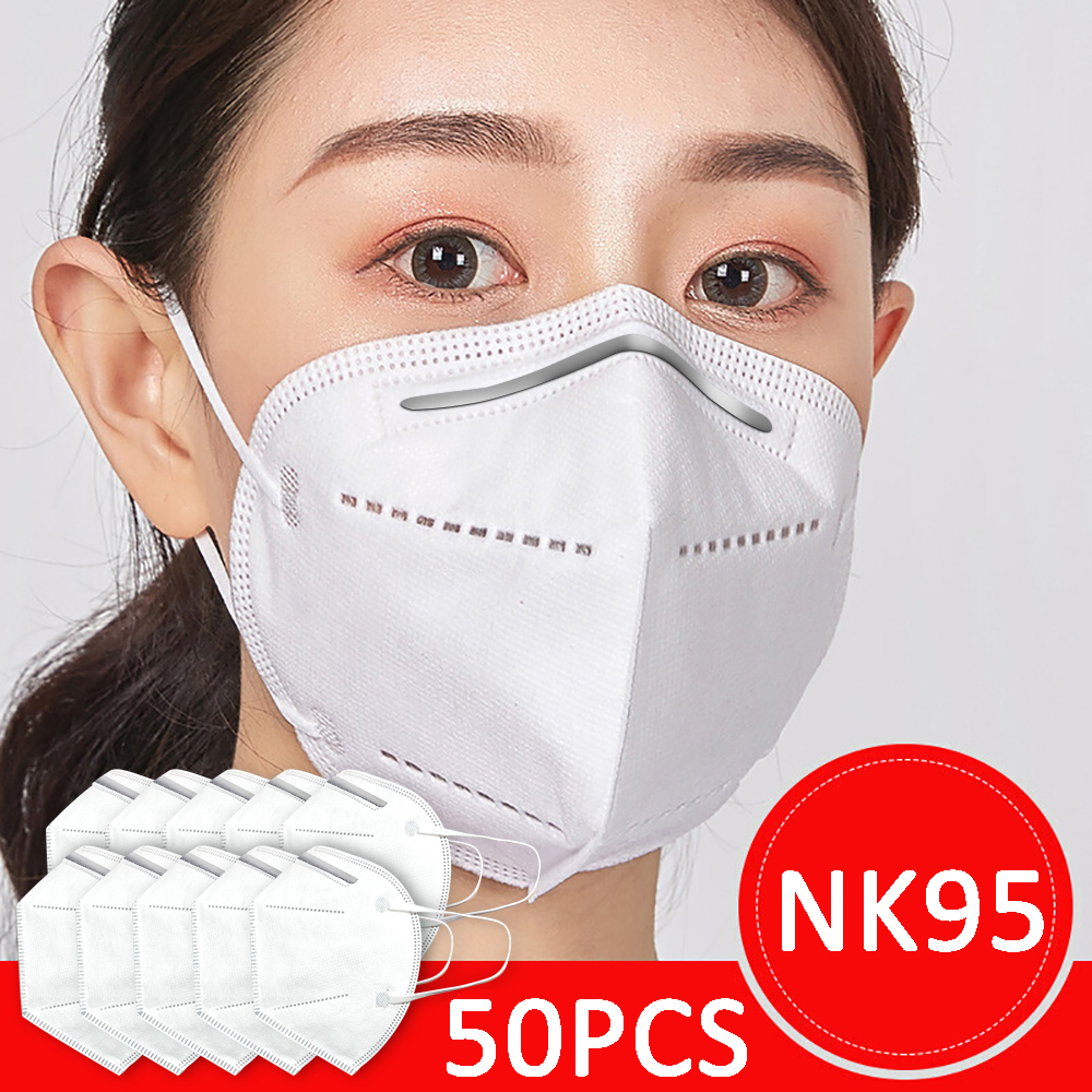 NK95 50pcs 5 Layers Mask NK95mask Disposable Face Masks Filter>=95% Mouth Dust Mask Anti Air Pollution PM2.5 Safety NK95 Shield