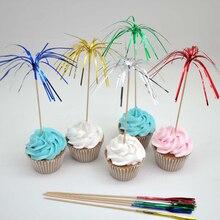 100 шт./компл. фруктовый коктейльный фейерверк, палочка для сбора напитков, свадебное украшение на день рождения, декоративный знак, украшение бара