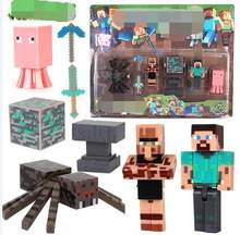 New Arrival Minecraft action figures Steve Alex Pig Zombie Cat Horse Enderman Limited edition Rare collectible toys(China)