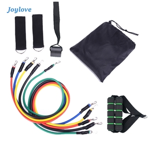 JOYLOVE 11pcs / Set Latex Resistance Bands Set Training Exercise Yoga Tubes Pull Rope Rubber Expander Fitness With Bag Resibands