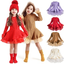 Baby Girl Winter Dress Children Clothes Kids Dresses For Girls Party Dress Long Sleeve