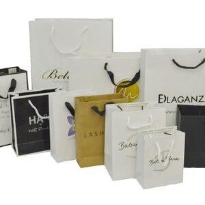 Image 1 - 사용자 지정 종이 가방 환영 가방 결혼식 사용자 지정 포장 가방 사용자 지정 선물 가방 종이 가방 로고 재사용 가능한 선물 가방