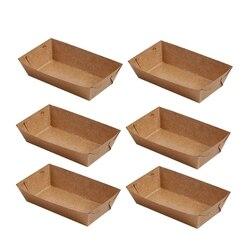 AFBC 50 sztuk papier jednorazowy taca serwisowa papier pakowy powłoka w kształcie łódki przekąska otwarte pudełko frytki pudełka na kurczaka (20X6X3