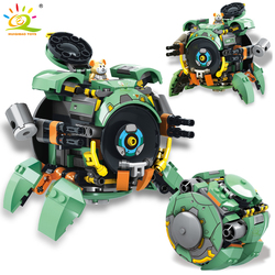 HUIQIBAO 227Pcs City Wrecking Ball Game Building Blocks Military Mecha Robot Hammond Animal Figures Weapon Bricks Toys Children