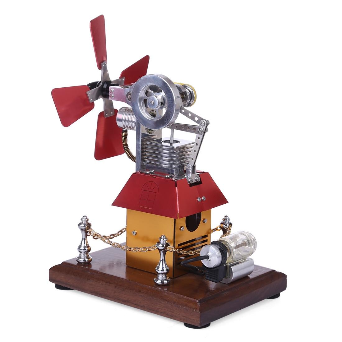 Butane Powered Windmill Cabin Shape Stirling Engine Model 2020 new arrival