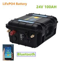 24V 100AH LiFePO4 akumulator wbudowany Bluetooth BMS 24v lifepo4 akumulator 100ah 24V akumulator na silnik łodzi, falownik