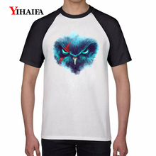 Mens T Shirts 3D Fashion Nebula Owl Funny Animal Graphic Tees Hip Hop Tee White Tops Harajuku Casual Unisex T-shirt
