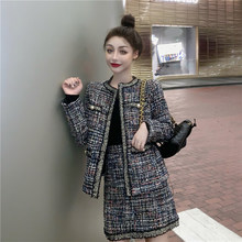 Winter tweed Fashion Plaid Woman Blazers Thicken Office Ladies Jackets Streetwear Female Coat Casual Thin Blazer For Women 0109(China)