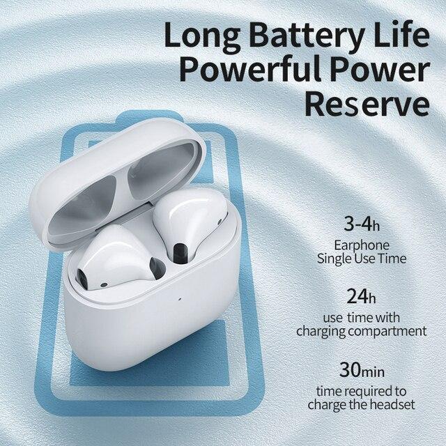 Bluetooth 5.0 True Wireless Earbuds with Charging Box Waterproof Earphone Volume Control Mini TWS Headphone Handsfree for Sports 6
