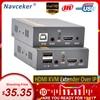 2020 150m HDMI USB Extender RJ45 IP רשת KVM Over IP Extender מעל Cat5 Cat5e Cat6 HDMI KVM Extender עם רחב IR על ידי UTP/STP
