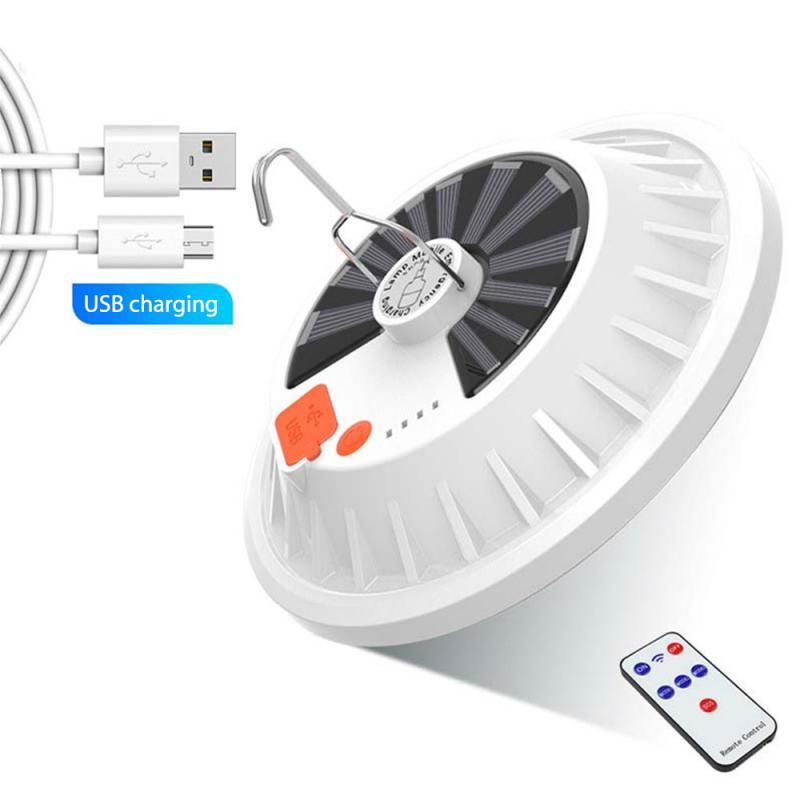120 LED Solar Outdoor Camping Lamp Lantern Portable Travel Tent Light Bulb Best