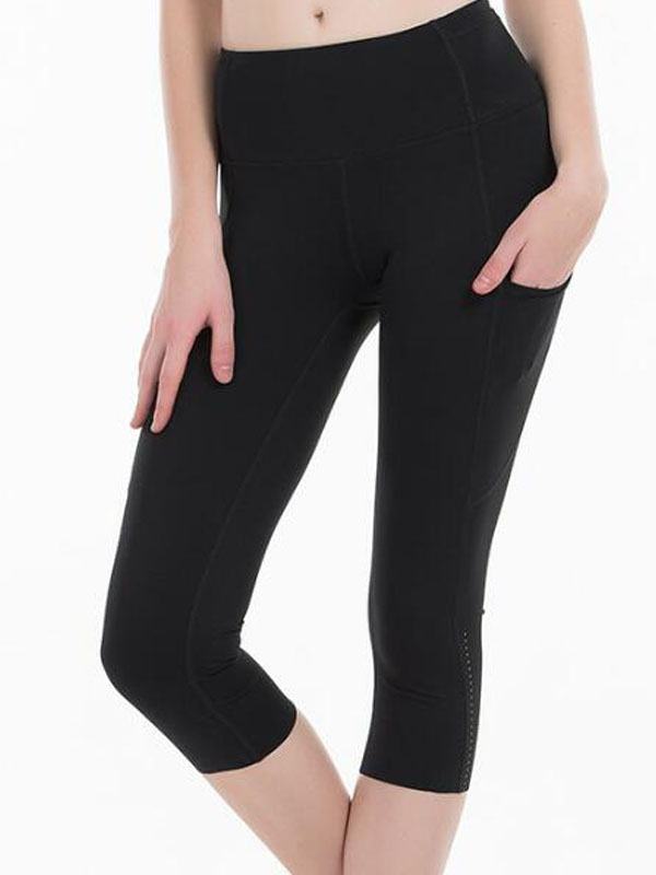 2020 Sports Capris Gym Leggings Super Quality Stretch Fabric camo black wine red capris leggings 7