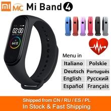 85% nuovo Xiaomi Mi Band 4 Smart Bracelet Miband 4 Smart Band Fitness Traker colore schermo AMOLED Bluetooth 5.0 Sport impermeabile