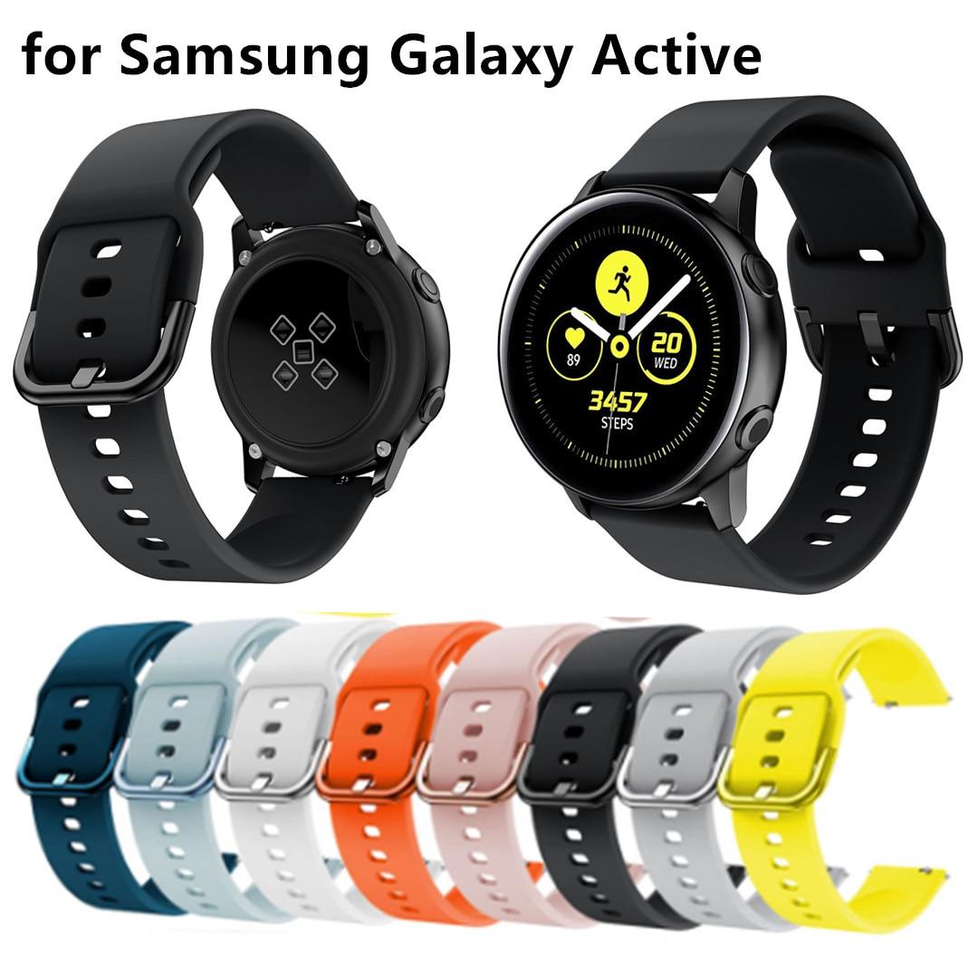 New Galaxy Watch Active1/2 Strap For Samsung Gear 42mm/amazfit Bip Strap 20mm Watch Band Correa Pulseira Bracelet Belt Watchband