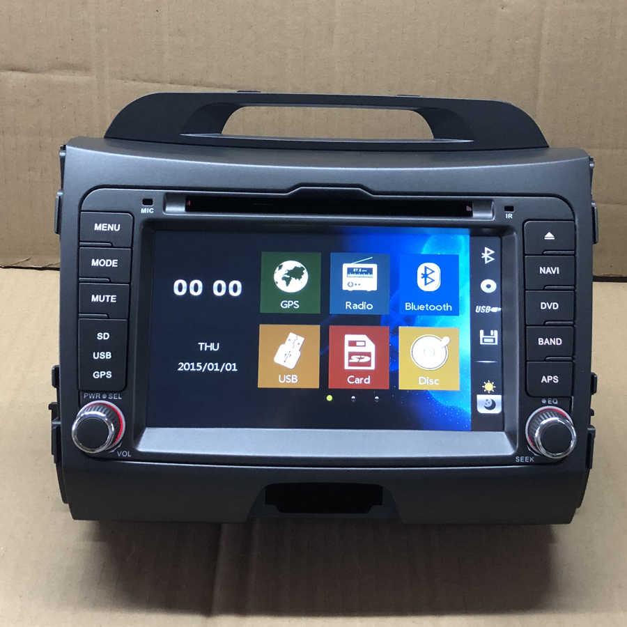 BYNCG 2din 7INCH Car DVD Multimedia Player for  Kia Sportage 2010 -2015  Autoradio GPS Navigation Stereo Music Audio Player