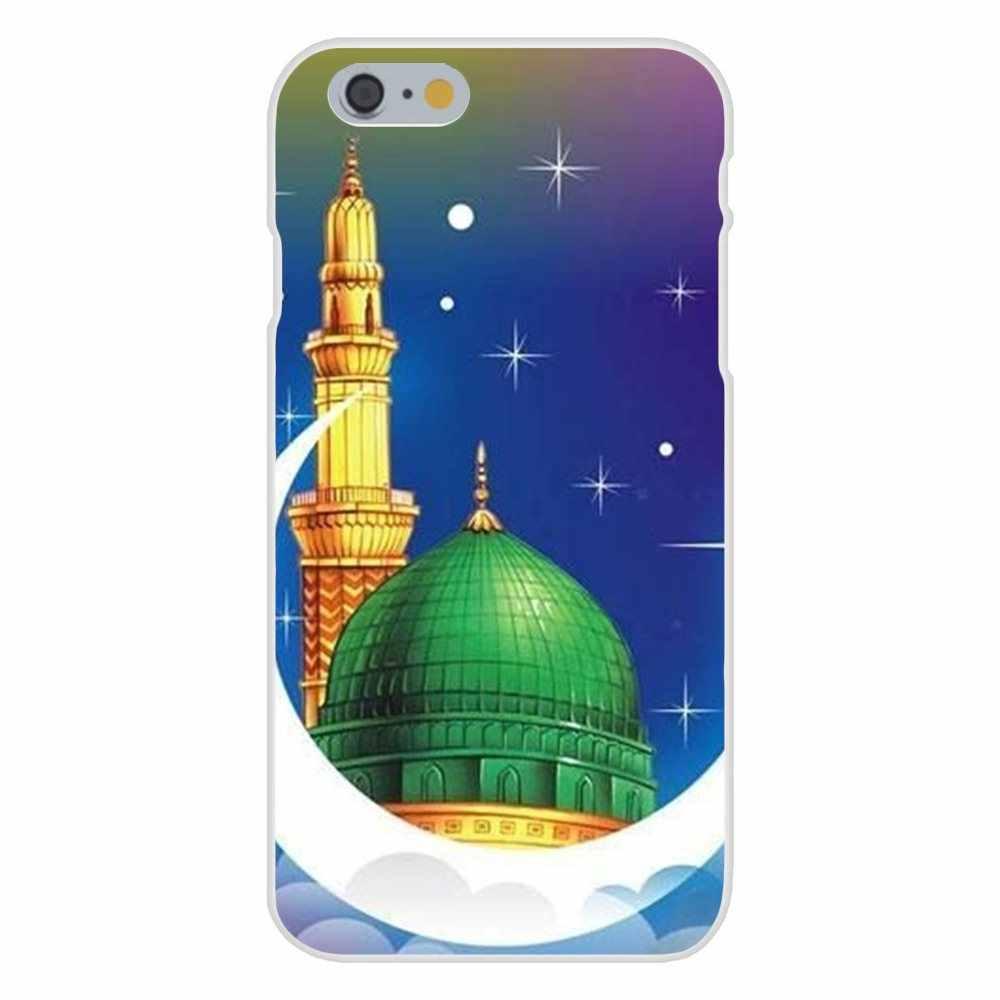 Pour Huawei Honor Nova Note 5 5I 8A 8X10 Pro 9X pour Moto G G2 G3 G4 G5 G6 G7 Plus TPU mode étui couverture Islam mosquée signe