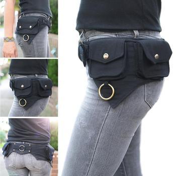 Saco de cintura feminina projetado para mulheres ao ar livre esportes dinheiro rua hip-hop viajar ou cinto estilo saco x4b9 1