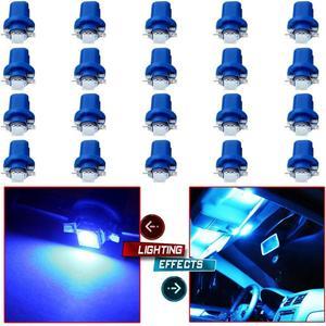 10PCS B8.3D 5050 1smd LED Light for Dashboard Instrument Cluster Light Car Light Bulb Side Light Indicator Light Interior Panel
