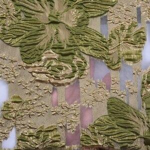 Image 2 - 2020 最新のアフリカのレース生地高品質のレースナイジェリアチュールレース生地ブロケードトップフレンチジャカードレースのドレス 1880