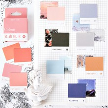 45pcs/box Color Card Stickers Inspiration Color Card Series Kawaii Cute Sticker Plan Custom Stickers Diary Stationery