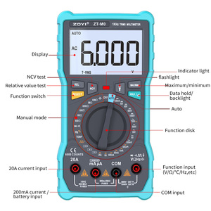 Image 3 - ZOYI ZT M1 ZT M0 Dual mode true RMS digital multimeter AC and DC voltage current temperature frequency better than ZT X RM409B