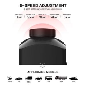 Image 2 - سخان ديزل 5KW 12V 24V ، سخان هواء لوقوف السيارات مع جهاز تحكم عن بعد ، شاشة LCD ، لشاحنات متنقل