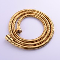 1.5/2/3m Bathroom Washroom SUS304 Stainless Steel Double Lock Shower Hose with Brass Fitting for Handheld Shower and Shower Head
