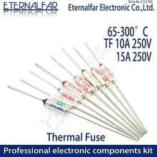Thermal Fuse RY TF 10A 15A 250V Controle de Temperatura Interruptor Termostato 135 275 280 285 300 C 65C 85C 121C 216C 240C 300C Grau