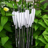 12x Fine carbon arrow for riding 400 500 600 spine with 4pcs feather for Longbow Recurve Bow Hunting Archery