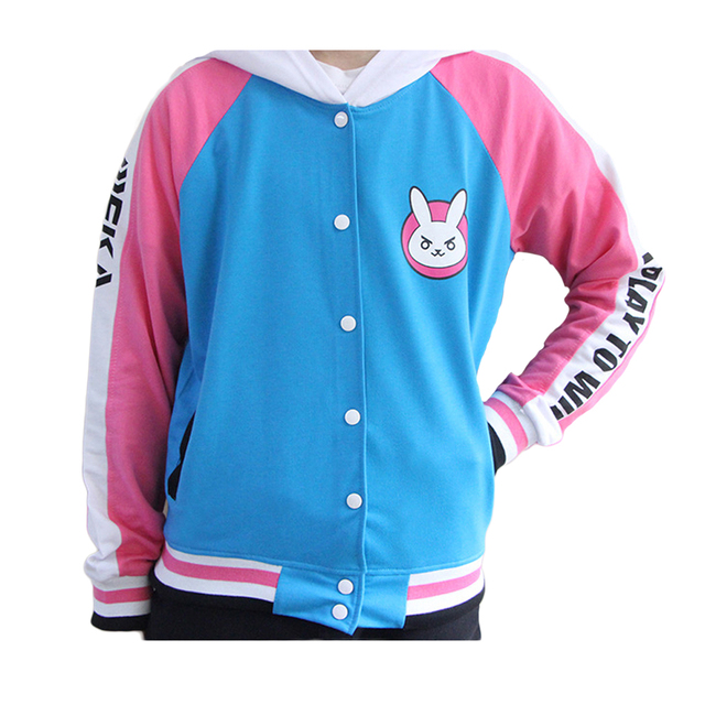 Anime Clothes Game DVa Hoodie Cosplay Costume D.Va Adult Baseball Coat D.Va Jacket feminino Cosplay thin Hoodies for Men Women 3