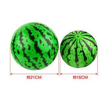 1 pc Creative Inflatable Ball Simulation Watermelon Rubber Ball Beach Pool Play Early Education Gifts Soft Toys For Children 1