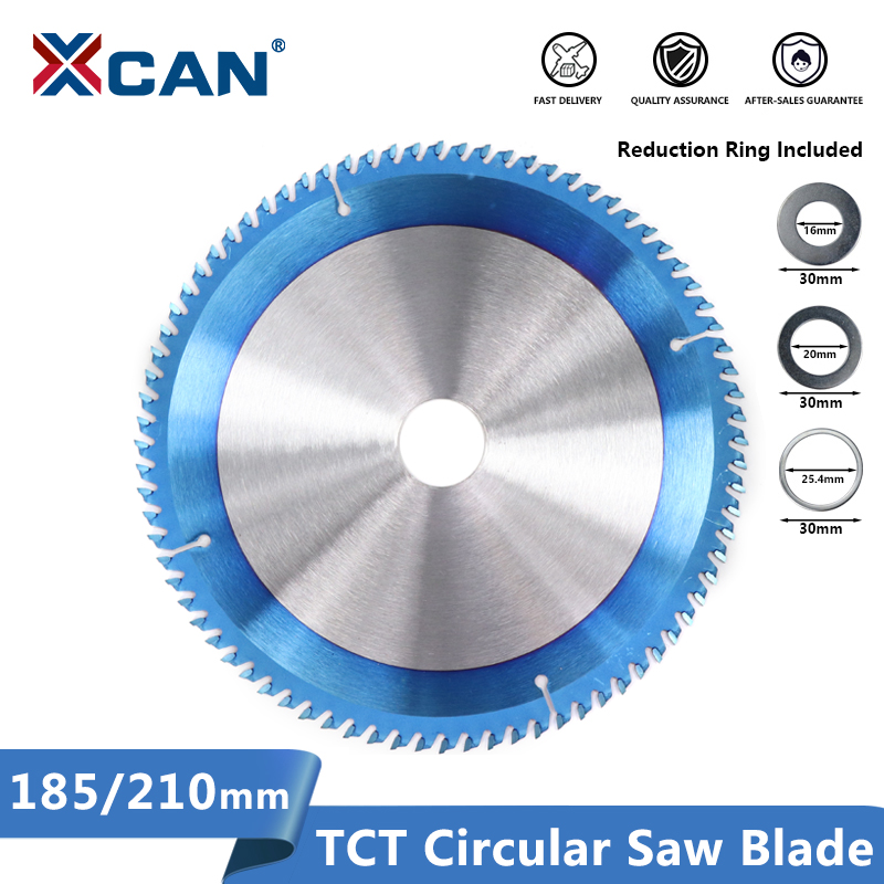 XCAN Wood Circular Saw Blade 185/210mm Circular Saw Disc Nano Blue Coated TCT Blades Carbide Tipped Saw Blades Wood Cutting Disc