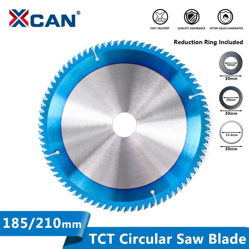 Полотно пилы XCAN по дереву 185/210/255 мм, дисковая пила с нано-синим покрытием, лезвия TCT, карбидные наконечники пилы, диск для резки дерева