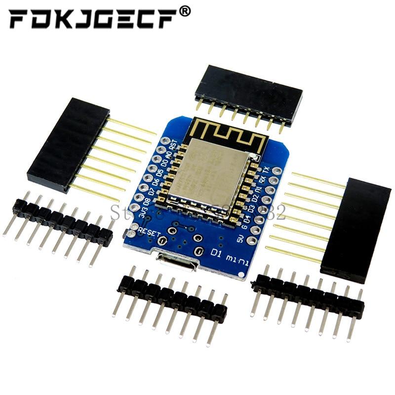 5 шт. ESP8266 ESP-12 ESP-12F CH340G CH340 V2 USB WeMos D1 Мини WIFI макетная плата D1 Мини NodeMCU Lua IOT плата 3,3 В