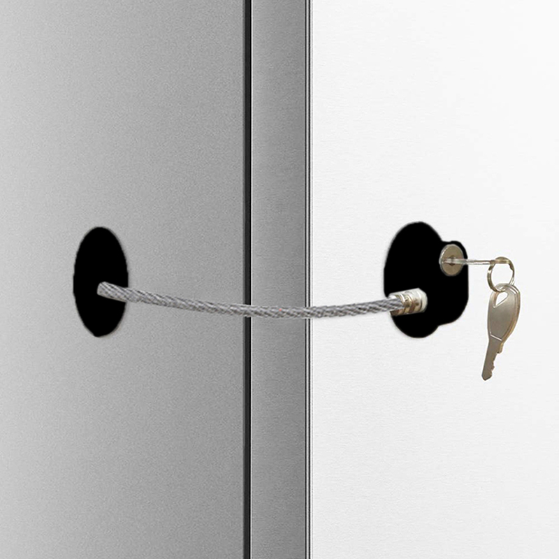 New Hot Black Children's Window Refrigerator Safety Limit Lock With Stainless Steel Key Cylinder Baby Care