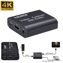 1080P 4K HDMI dispositif vidéo HDMI vers USB 2.0 carte vidéo Dongle enregistrement en direct diffusion en boucle(China)