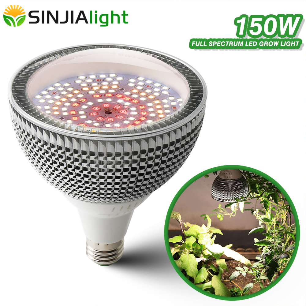 2020 New 150W LED Grow Light Full Spectrum Fitolamp 200LEDs Plant Growing Bulb Lighting For Flowers Seeds Plants Indoor Grow Box