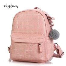 Fashion Soft Travel Bags Fur Mochila Black Women Leather Backpack School Bag For Teenage Girls Female Pink Backpacks