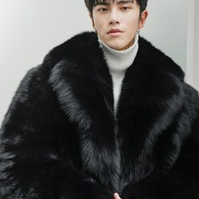 Real Fur Coat Men Long Winter Jacket Natural Fox Fur Coats Luxury Jacke