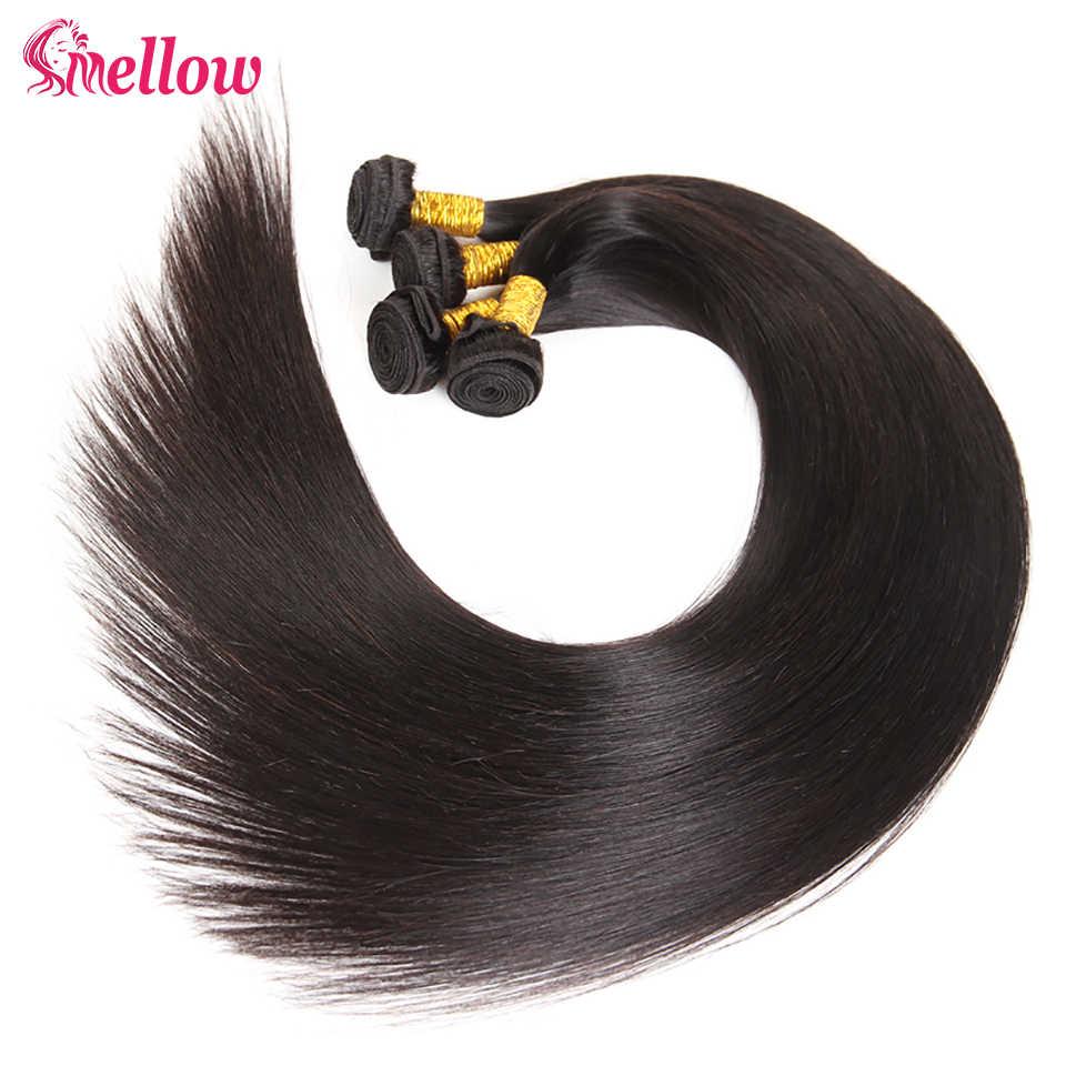 يانع 28 30 32 34 40 بوصة البرازيلي شعر ريمي مستقيم نسج اللون الطبيعي 1 3 4 حزم صفقة 100% شعر الإنسان ضعف تعادل