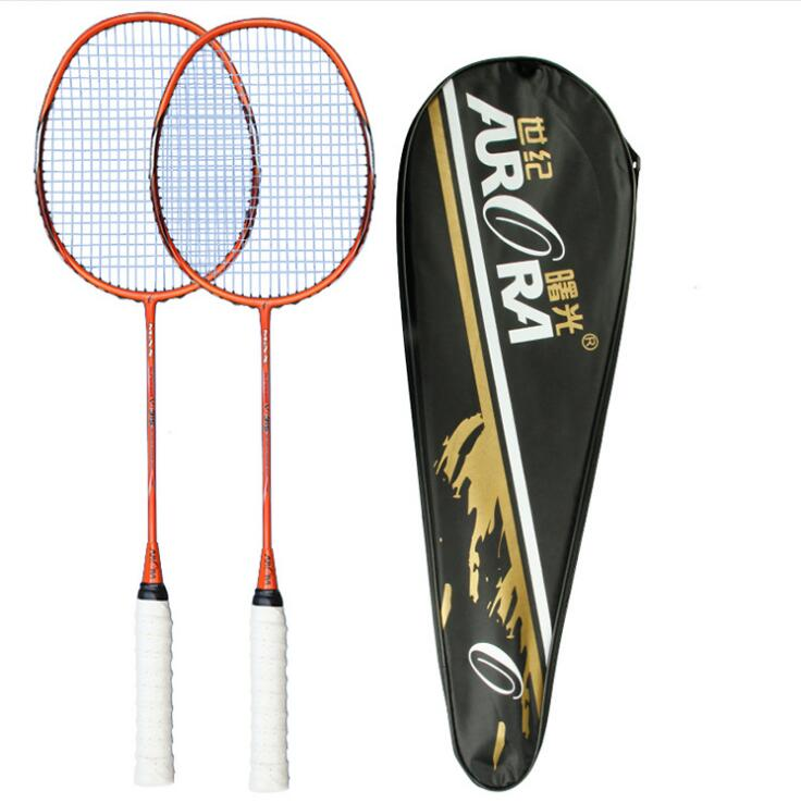 Professional Primary Training Carbon Fiber Badminton Racket Adult Youth Children Competition  Badminton Racquet  Two Pieces