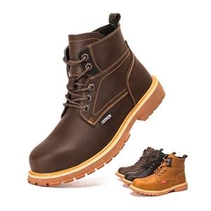 Image 3 - Work shoes safety shoes Rivet boots men waterproof non slip spark resistant smash resistant puncture resistant durable martens