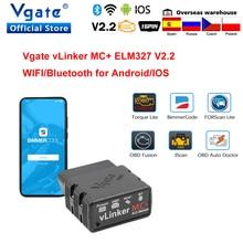 Vgate Vlinker Mc + ELM327 Wifi Auto Scanner OBD2 Auto Bluetooth 4.0 Diagnostic Tool Voor Android/Ios Elm 327 obd 2 ODB2 Bimmercode