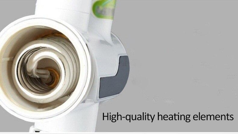 Image 2 - 3000W szybki podgrzewacz wody wyświetlacz temperatury dźwigu podgrzewacz wody elektryczny, gorący bezzbiornikowy ogrzewanie łazienka kuchnia kraninstant water heaterwater heaterwater heater electric -