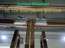 DC 12V Electric Mortise Fail Safe Drop Bolt Lock Surface Mounted 0/3/6S Time Delay Magentic Induction Solenoid Gate Door Latch